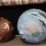 Children practiced observing new planets with advancing technology.