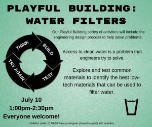Copy of Playful building- WATER FILTERS