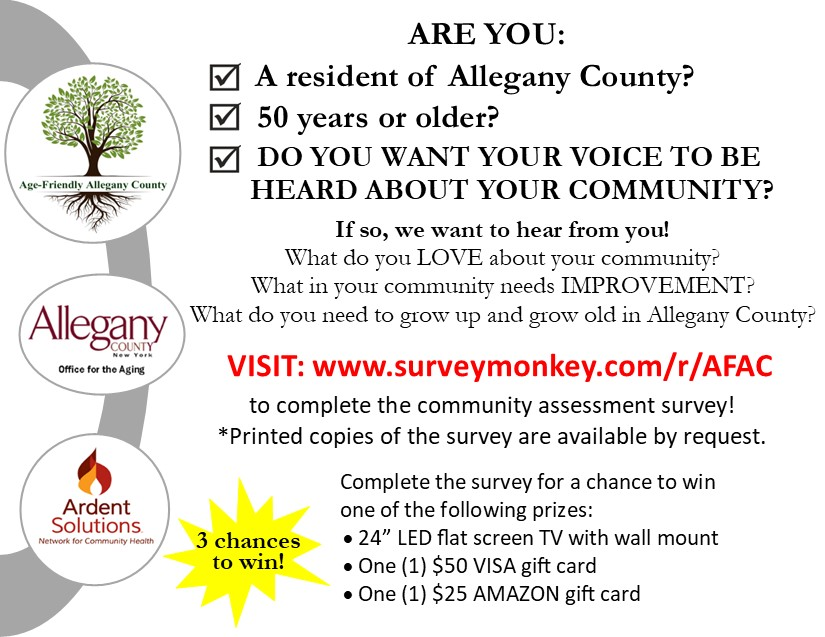 Age Friendly Allegany County Survey information.